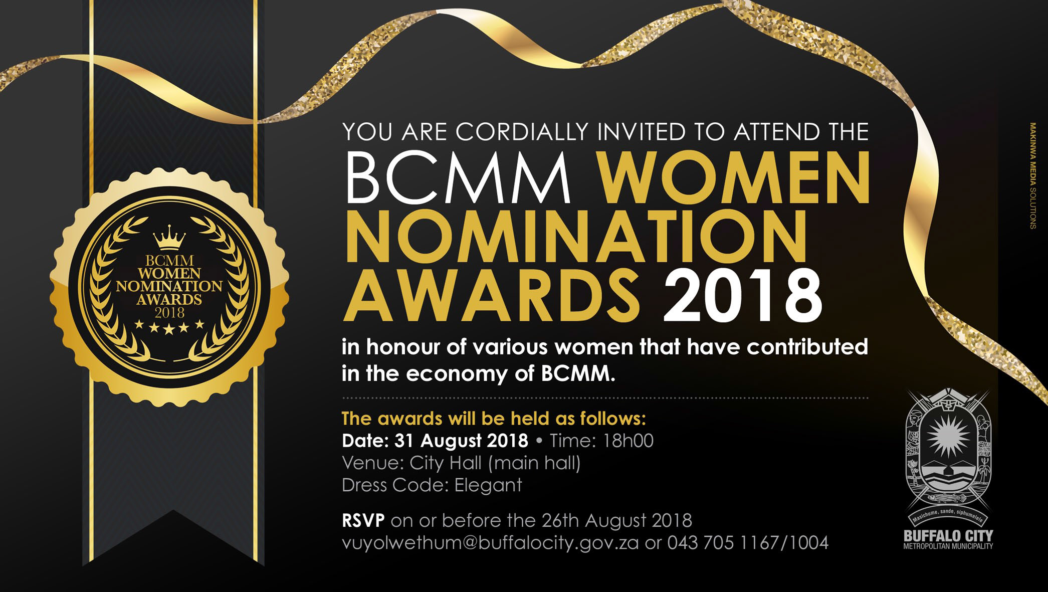 invitation to bcmm nomination awards - 31 august 2018